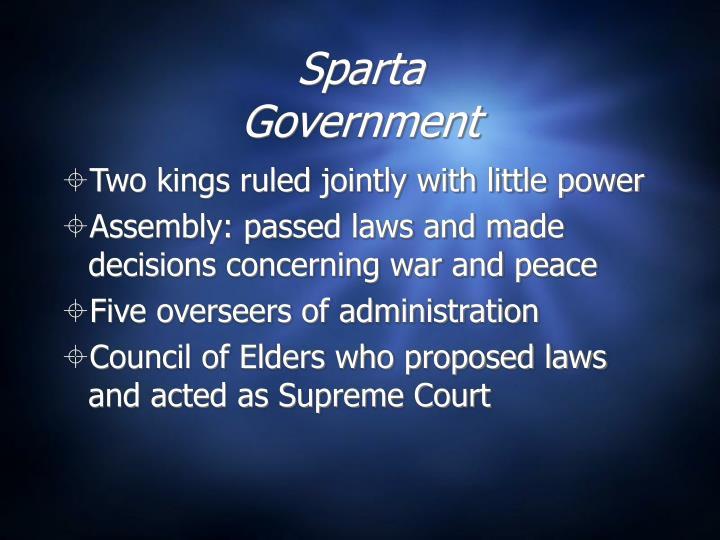 Sparta government