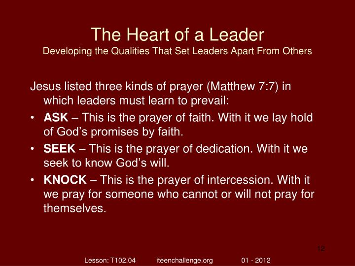 The Heart of a Leader
