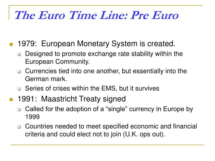 The Euro Time Line: Pre Euro