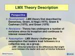 lmx theory description