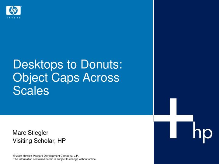 desktops to donuts object caps across scales