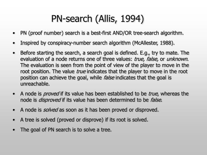 PN-search (Allis, 1994)