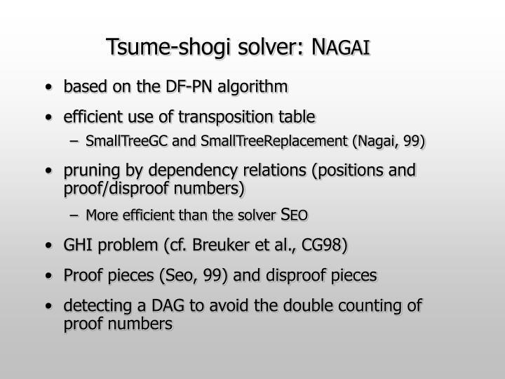 Tsume-shogi solver: N