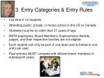 3 entry categories entry rules1