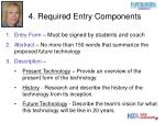 4 required entry components