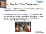 4 required entry components2