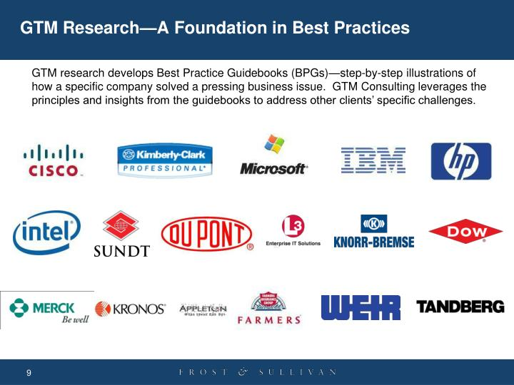 GTM Research—A Foundation in Best Practices