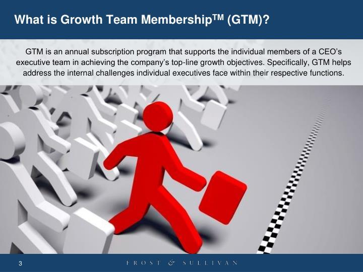What is growth team membership tm gtm
