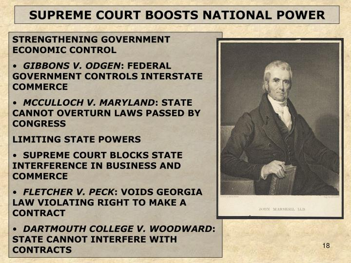 SUPREME COURT BOOSTS NATIONAL POWER
