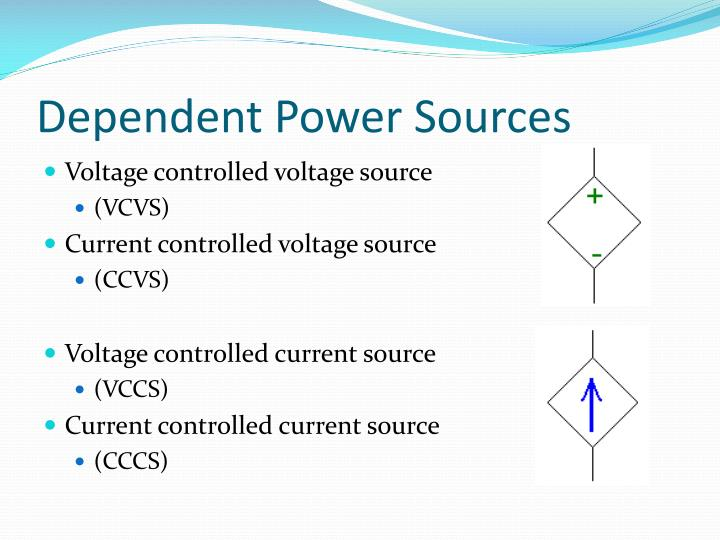 Dependent Power Sources