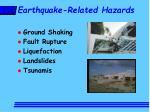 earthquake related hazards