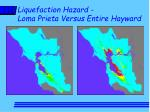 liquefaction hazard loma prieta versus entire hayward