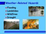 weather related hazards