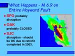 what happens m 6 9 on entire hayward fault1