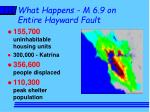 what happens m 6 9 on entire hayward fault2