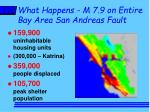 what happens m 7 9 on entire bay area san andreas fault1