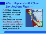 what happens m 7 9 on san andreas fault