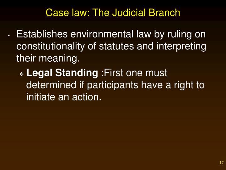 Case law: The Judicial Branch