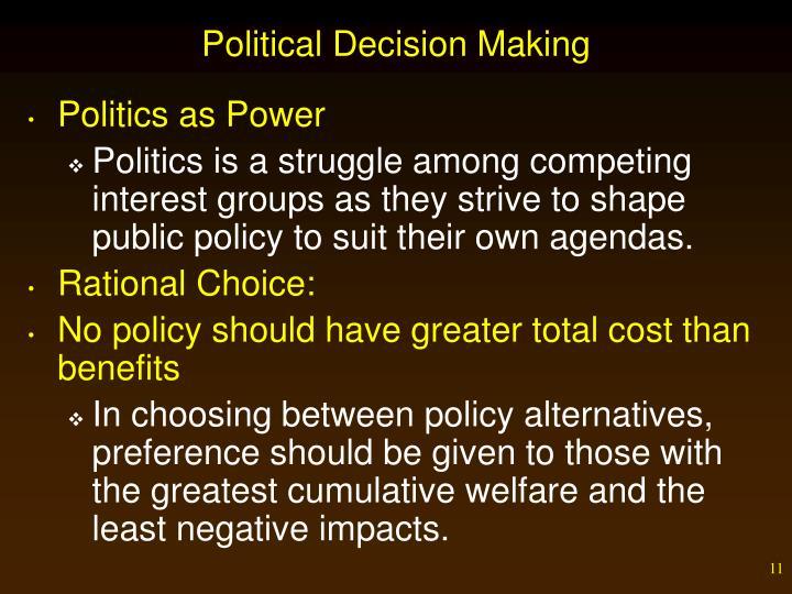 Political Decision Making
