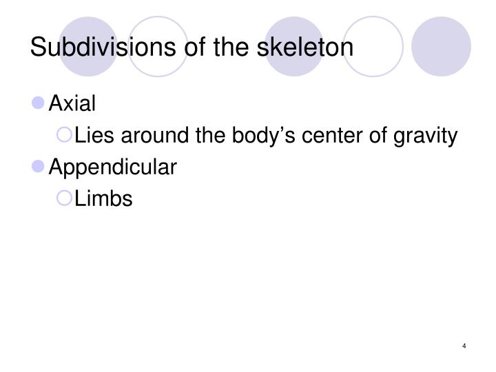 Subdivisions of the skeleton