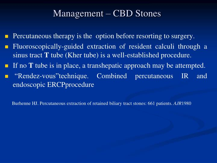 Management – CBD Stones