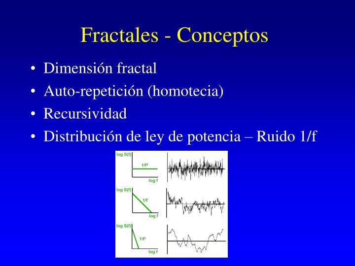Fractales - Conceptos