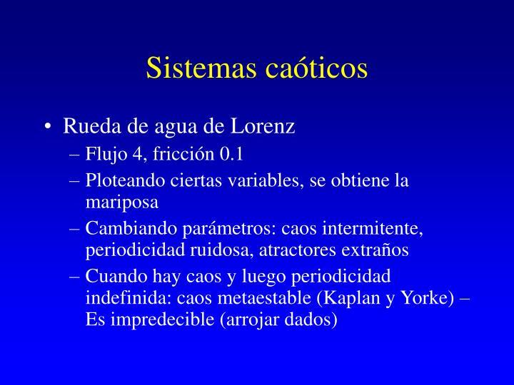 Sistemas caóticos