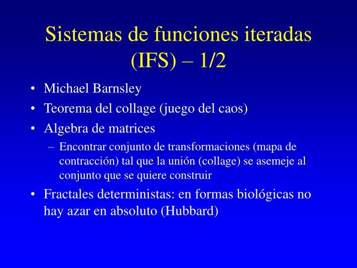 Sistemas de funciones iteradas (IFS) – 1/2