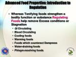 advanced food properties introduction to regulation