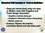 historical tcm example of food as medicine