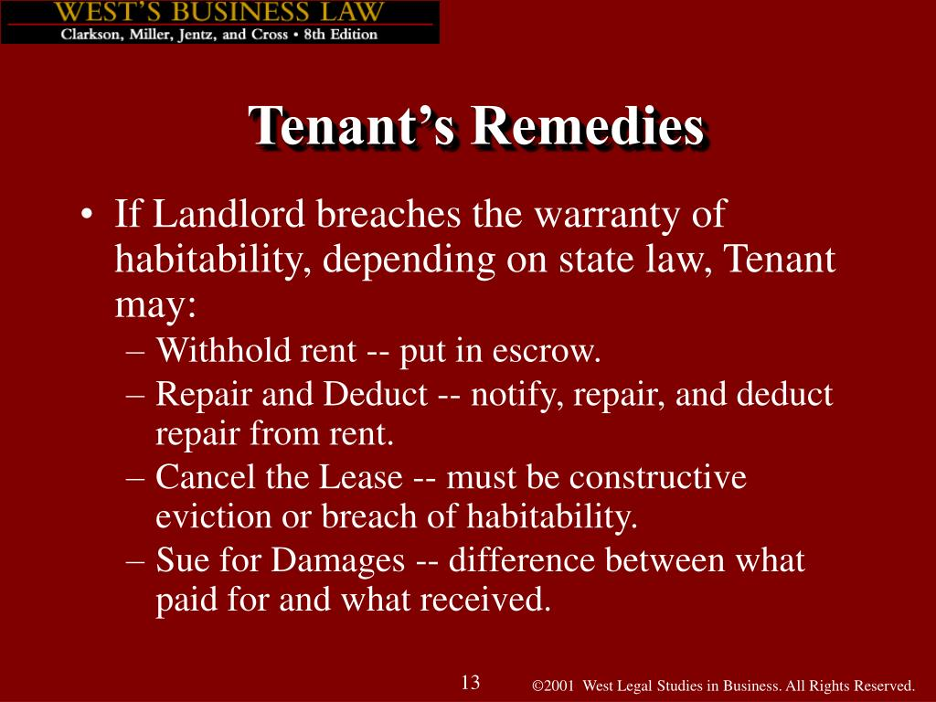 PPT - Chapter 48: Landlord-Tenant Relationships PowerPoint