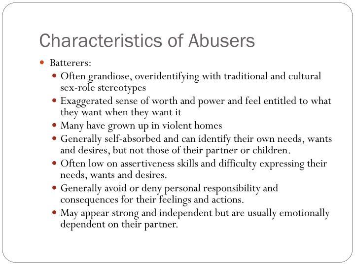 Characteristics of Abusers