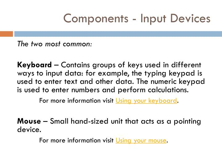 Components - Input Devices