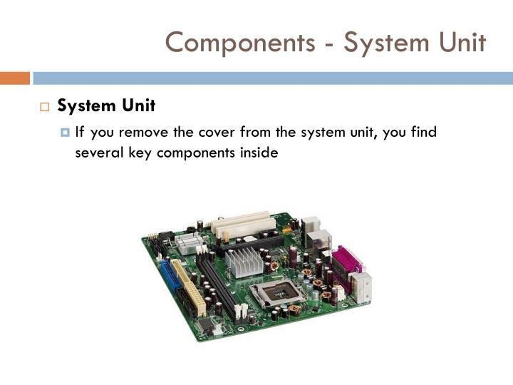Components - System Unit