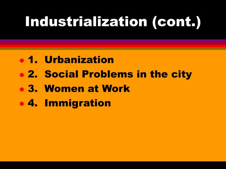 an analysis of urbanization as a social problem