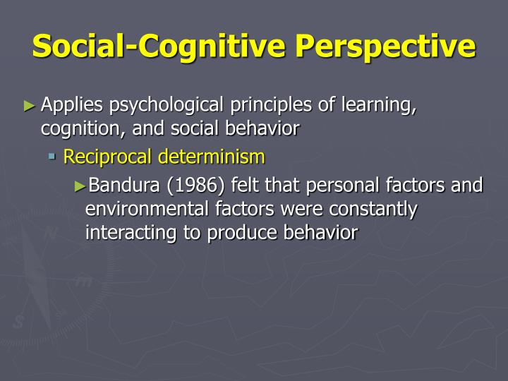 explain how meta cognition and social cognition influence interpersonal behavioror Albert bandura's social cognitive theory views learning as occurring within a social context and regards humans as self-organizing, proactive, self-reflecting and self-regulating social cognitive theory categorizes the factors in human development as environmental, behavioral, and cognitive.