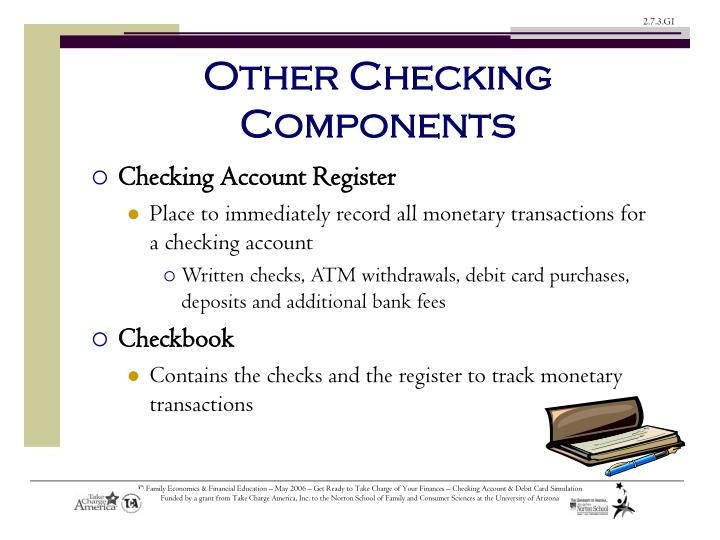 Other Checking Components