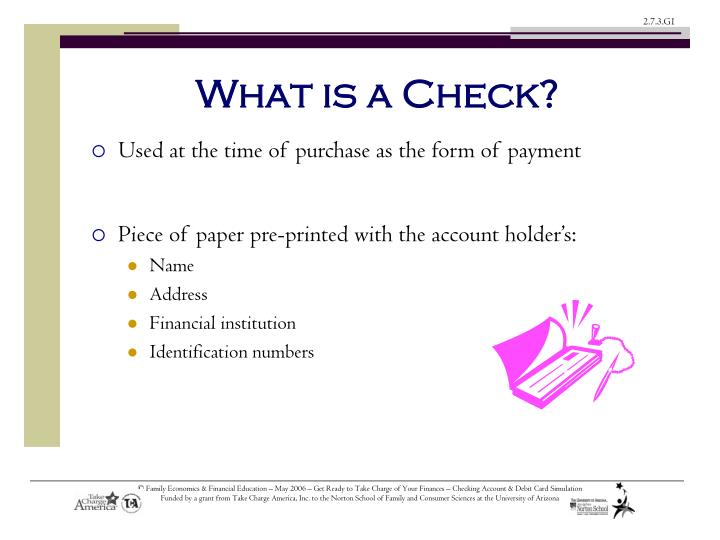Piece of paper pre-printed with the account holder's: