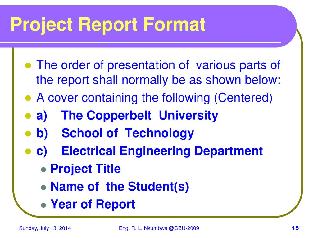 PPT - Final Year Project Report Writing & Assessment 2009 PowerPoint