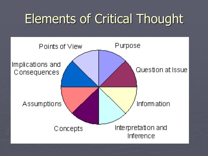Elements of critical thought