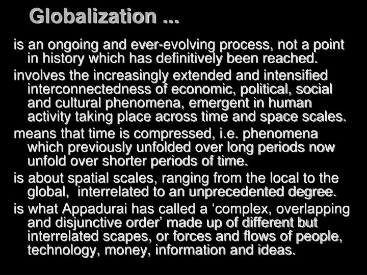 Globalization ...