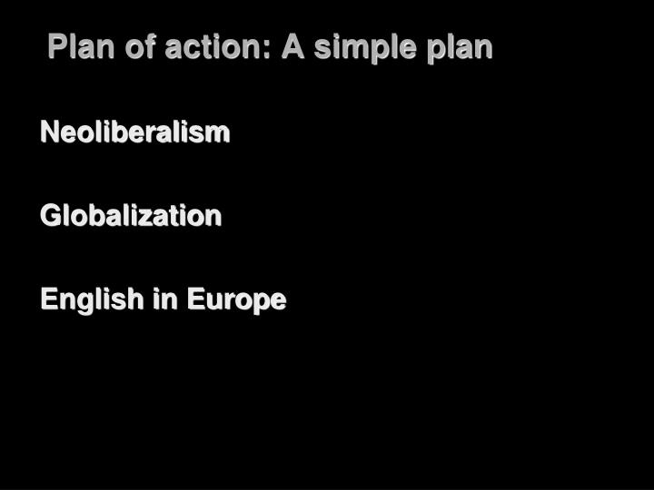 Plan of action a simple plan