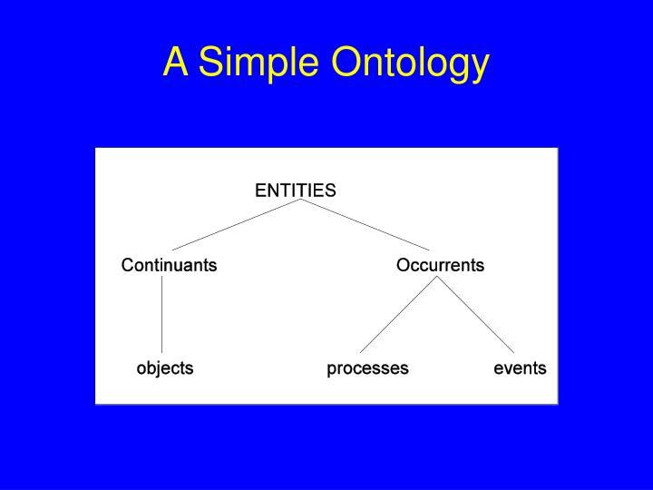 A Simple Ontology
