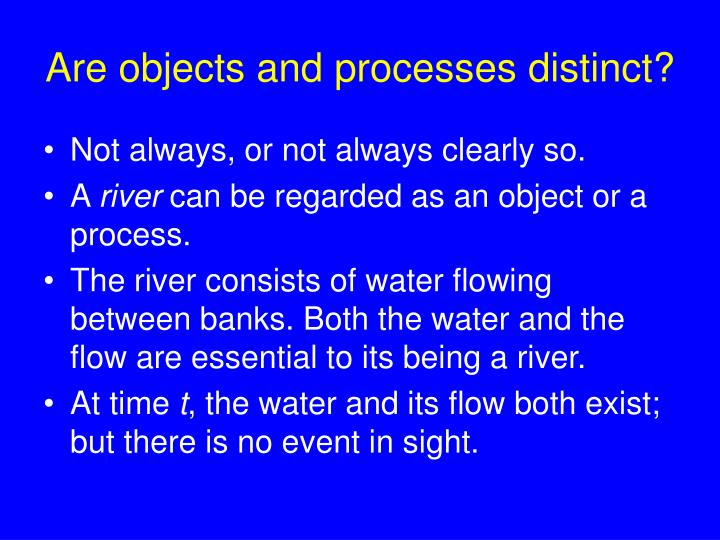 Are objects and processes distinct?