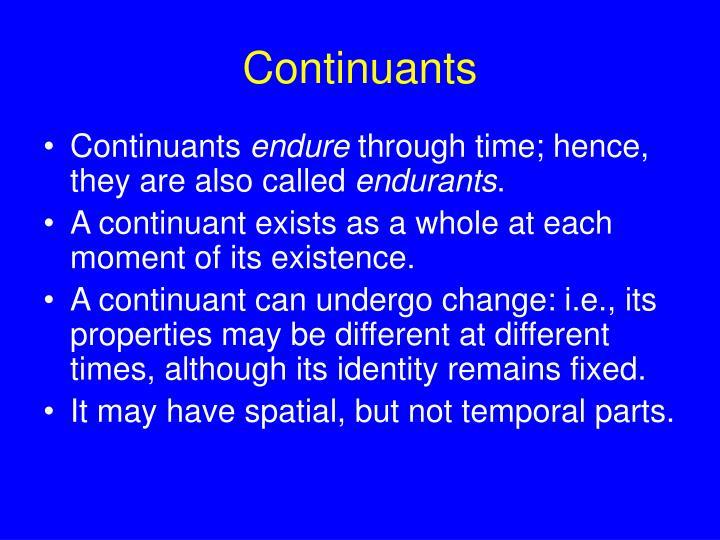 Continuants