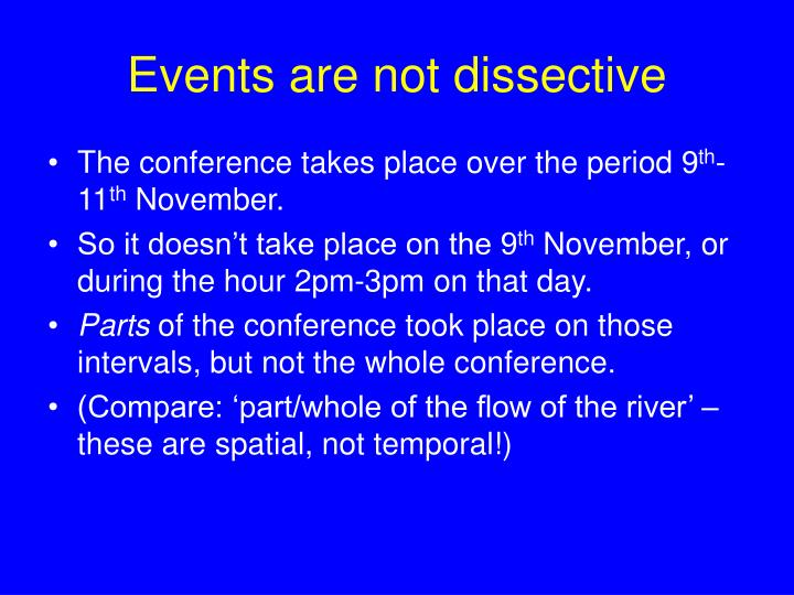 Events are not dissective