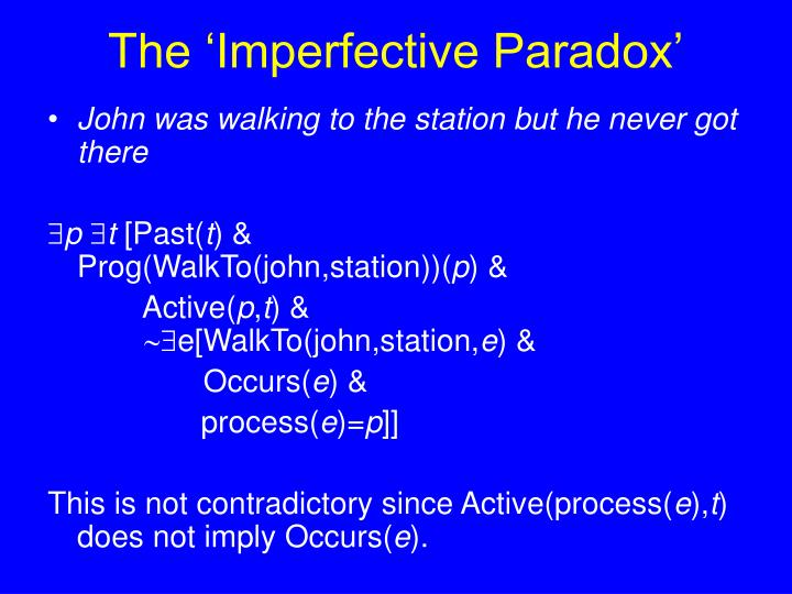 The 'Imperfective Paradox'