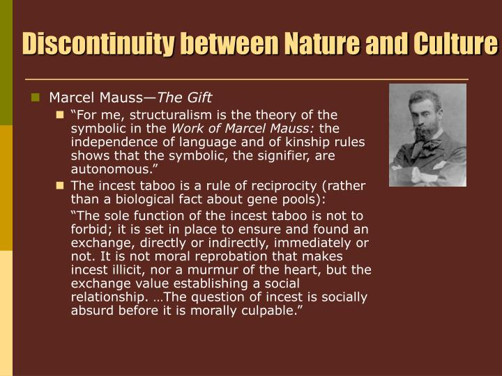 Discontinuity between Nature and Culture