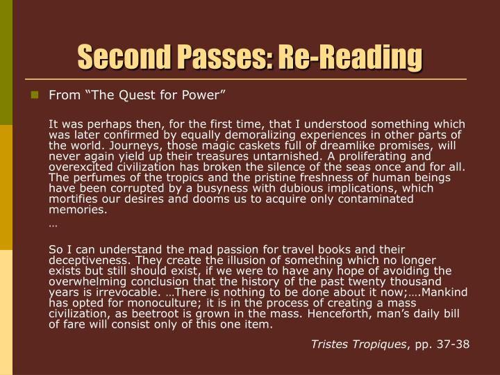 Second passes re reading