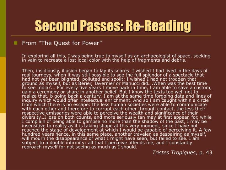 Second passes re reading1